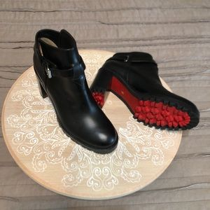 Christian Louboutin black ankle boots